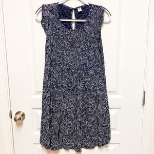 Old Navy Blue Paisley Dress